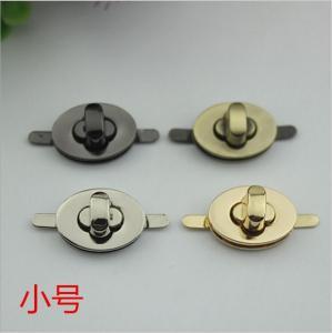 China China handbag hardware silver color oval shape small twist turn lock on sale