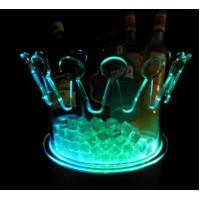 Led Light up acrylic ice bucket Crown/flash ice bucket