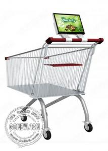 China 12.1 Inch Supermarket Shopping Trolley Bus Digital Signage Advertising Rechargeable Battery on sale