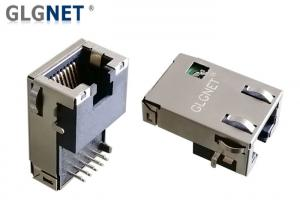 China 90 Degree Magnetic RJ45 Jack Single Port Tab Down For Network Servers , Routers on sale