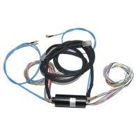 Integrated Slip Ring of 22 Wires Routing 2A Current, 1 Wire Gigabit Ethernet Signal with 1ckt Coaxial Rotary Joint