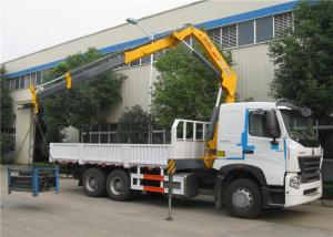China Sinotruk HOWO A7 6x4 Truck Mounted Crane 25 Tons Cargo Mounted Straight Arm Crane on sale