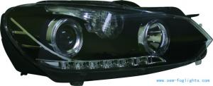 China 2010 VOLKSWAGEN GOLF black housing and clear projector Hid Headlamps on sale