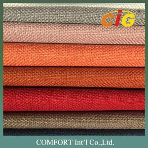 China Polyester Linen Jacquard Upholstery Fabric / Upholstery Material For Sofa Furniture on sale