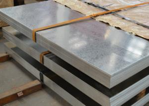 China Hot Dip Galvanised Metal Sheet , 40 - 275g Zinc Layer Galvanized Steel Panels on sale