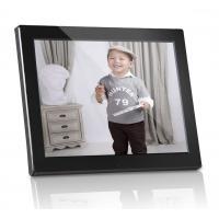 Plastic 12 inch Digital Photo Frames Motion Sensor With Calendar / Clock