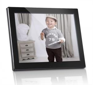 China Plastic 12 inch Digital Photo Frames Motion Sensor With Calendar / Clock on sale