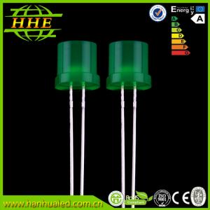 China Flat top ultra bright GREEN emitting color LED Diode 5mm 520nm - 525nm on sale