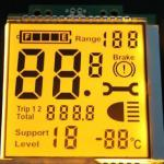 Custom Temperature and Temperature Segment Code LCD Electronic Display