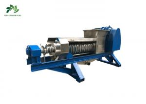 China Food Dewatering Screw Press Machine Electronic Waste Recycling With Crusher on sale