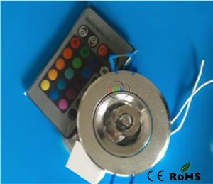 China 5W RGB Led Downlight,AC100-240V with 24 key controller on sale