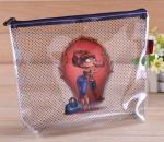 Plastic Clear Vinyl Zipper Pouch Customized Size With 0.25MM Thickness