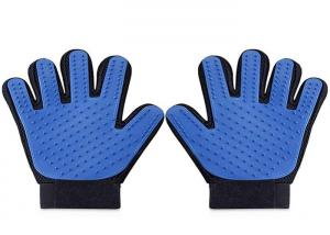 China Custom Logo True Touch Five Finger Deshedding Glove / Pet Hair Remover Glove on sale