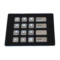 4 x 4 Keys Custom Vandal Resistant Metal Keypad With Backlit , Numeric Keys