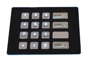 China 4 x 4 Keys Custom Vandal Resistant Metal Keypad With Backlit , Numeric Keys on sale
