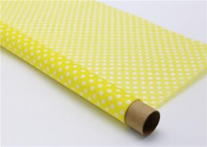 China Sandwich Wrapping Decorative Food Grade Wax Paper White Circle On Yellow Tissue on sale