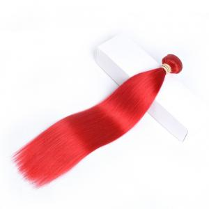 China Fashion Red Color Ombre Hair Weave Virgin Hair Weft 12-26 inch on sale
