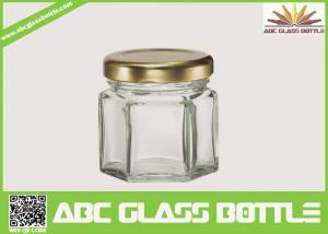 China Hot sales wholesale hexagon Honey cheap glass jars on sale