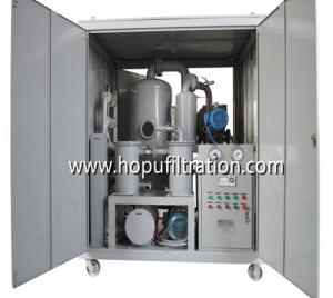 China Enclosed Weather Proof Type High Vacuum Insulation Oil Filtration Unit ,Transformer Oil Purifier with carbon steel cabin on sale