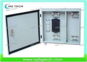 China Outdoor 12Core Wall Mount Fiber Optical Distribution Box, White/Black Color on sale