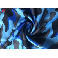 Camouflage Printing Single Jersey Fabric Polyester Spandex Fabric For T - Shirt
