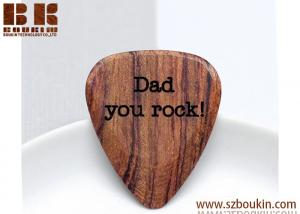 China 100% real Wood Guitar Picks Custom Your Message for Unique gift on sale