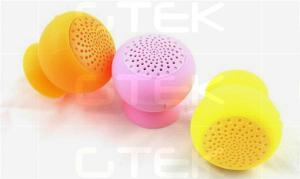 China Mushroom Portable Mini Speaker , Silicone Hands Free Speakerphone on sale