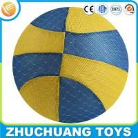 40cm cheap inflatable soft fabric covered cloth basketball ball