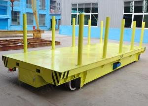 China Metal plant transport trolley for steel or aluminum sheet handling on rail on sale
