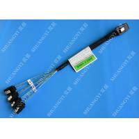 30 AWG Mini SAS Serial Attached SCSI Cable , 36P SFF 8087 To SATA Breakout Cable With Latch