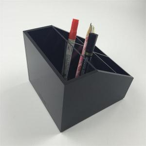 China Clear Counter Top Cube Acrylic Pen/Pencil Holder on sale