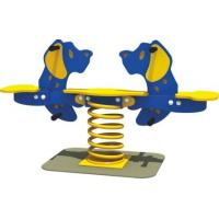 Double Seats Kids Outdoor Spring Rider For Toddler Playground Equipment