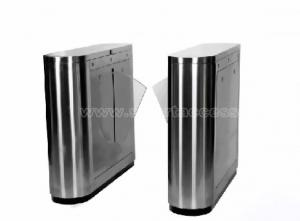 China Access Control Automatic Flap Barrier Gate TCP / IP Security Gate Access Control Wheelchair Lanes For Subway on sale