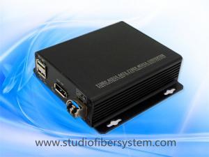 China OEM Displayport KVM fiber extenders for  2K/4K Displayport V 1.1 and USB1.0 signals over single mode fiber to 10KM on sale