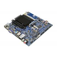 LVDS Fanless PC Motherboard DC12V , Quad Core CPU J1900 Mini ITX Board