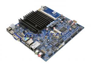 China 6 COM Fanless Motherboard , Mini Computer Quad Core Mainboard J1900 CPU on sale