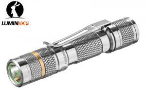 China Mini Lumintop Ti Tool AAA Flashlight , Titanium AAA Flashlight With Reversible Clip on sale