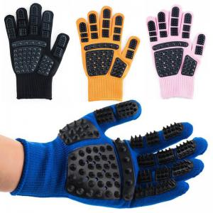 China True Touch Glove Cat Hair Deshedding Brush Glove Dog Hair Comb Hair Remover on sale