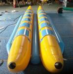 CE / UL Inflatable Water Toys , Flying Boat Towable With 12 Seats