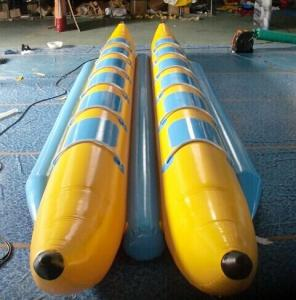 China 0.9mm PVC Inflatable Banana Boat , Inflatable PVC Water Banana Boat with 12 Seats on sale