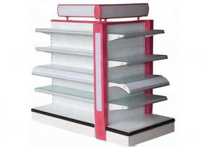 China Customized Glass Display Rack , Cosmetics Display Shelves With Light Box on sale