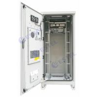 Air Conditioner Type Outdoor Rack Mount Enclosure 40U Weatherproof With Emerson Power Supply