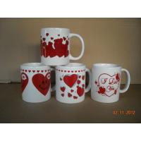 China ceramic decal mug for Valentine's Day on sale