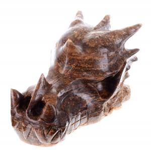 "China 5.12"" Pietersite Dragon Skull Carving for Crystal Healing (3J19) on sale"