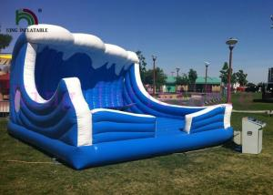 China Simulated Surfing Inflatable Sports Games 0.55mm PVC Sea Blue / White Inflatable Toy on sale