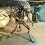 Customized movie character fiberglass life size Alien statue