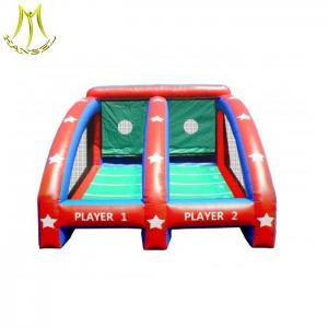 China Hansel  playground equipment outdoor inflatable toys inflatable soccer fence on sale