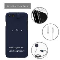 China 3 in 1 Smart Phone Case Bluetooth Player 3.5mm Earphone Jack Aux Audio Converter ABS Case For IPhone1^^^black on sale