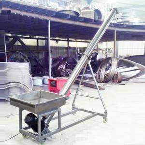 China Stainless steel auger feeder / flexible screw conveyor for grain on sale