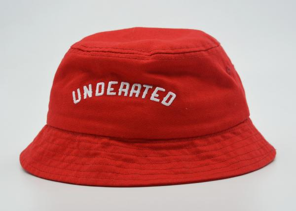 Unisex Red Fishing Bucket Hat Official 3d Puff Embroidery 56 60 Cm